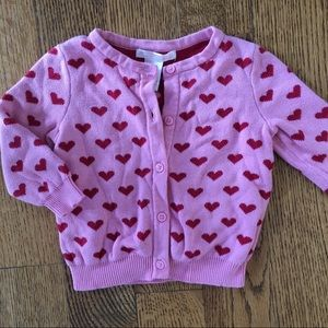 Janie and Jack Heart Sweater